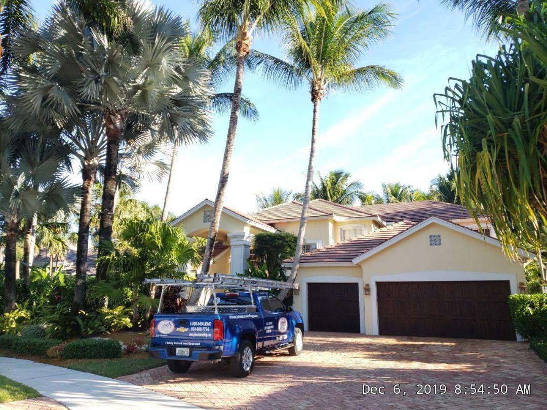 Weston, FL - Eagle Bel air tile re-roof estimate in Weston,FL by Mike Wilde of Earl Johnston Roofing