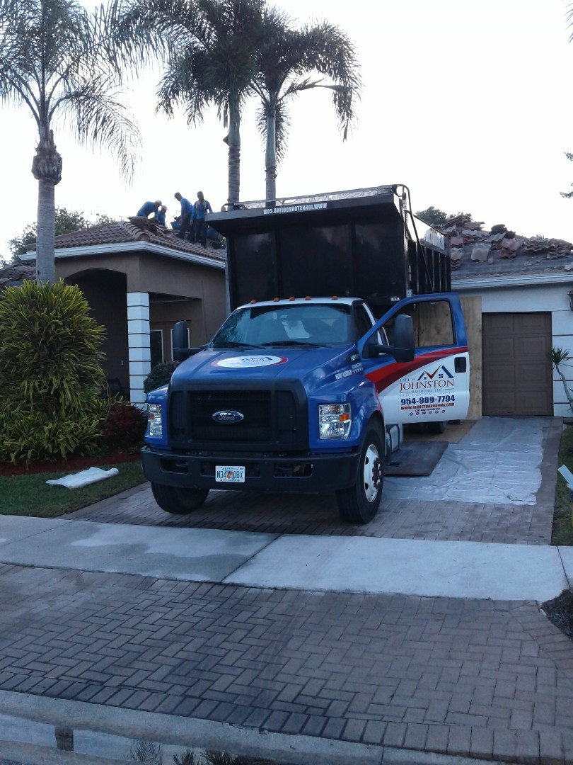 Weston, FL - Starting a 50sq.tile reroof in Western ,by Earl w Johnston roofing.