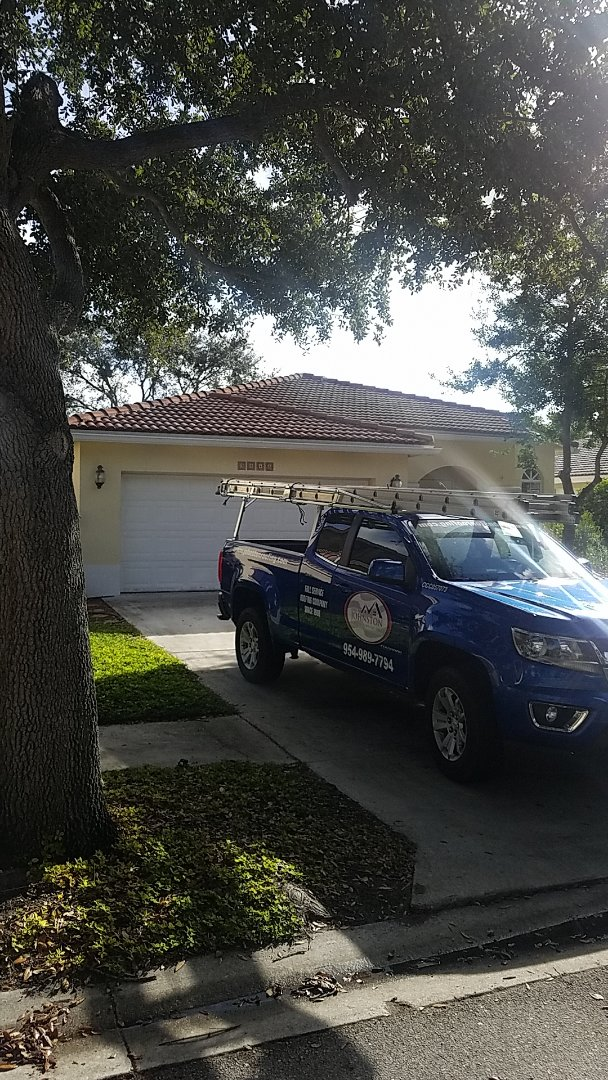 Coconut Creek, FL - Tile roof leak repair estimate by Aj from Earl Johnston Roofing Company