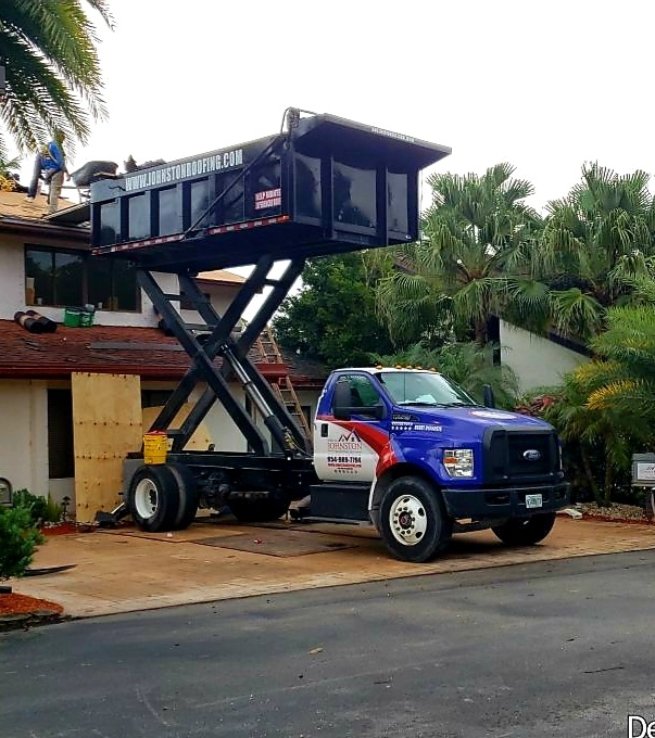Davie, FL - Gaf Timberline hd shingle re-roof is starting today in Davie FL
