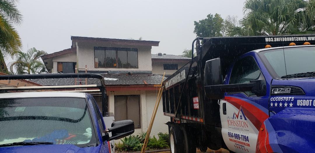 Davie, FL - Gaf Timberline hd Shingle roof replacement is under way in Davie FL