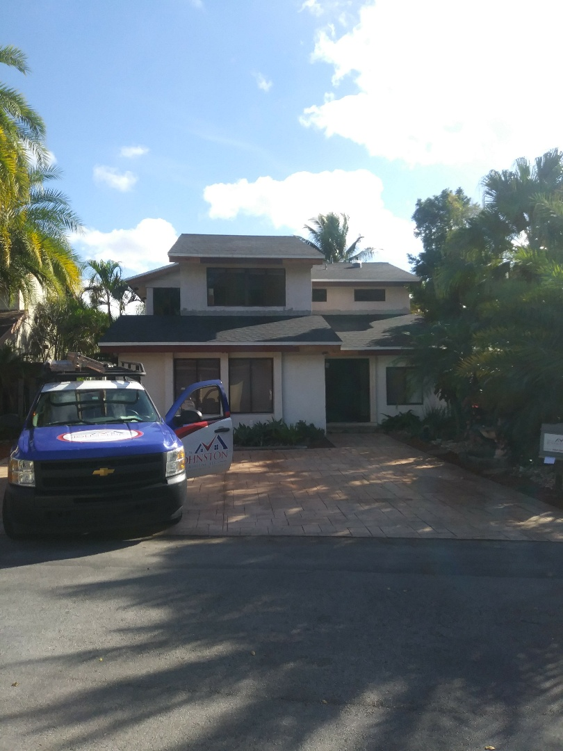 Davie, FL - Finished Gaf timberline shingle roof by earl w Johnston roofing