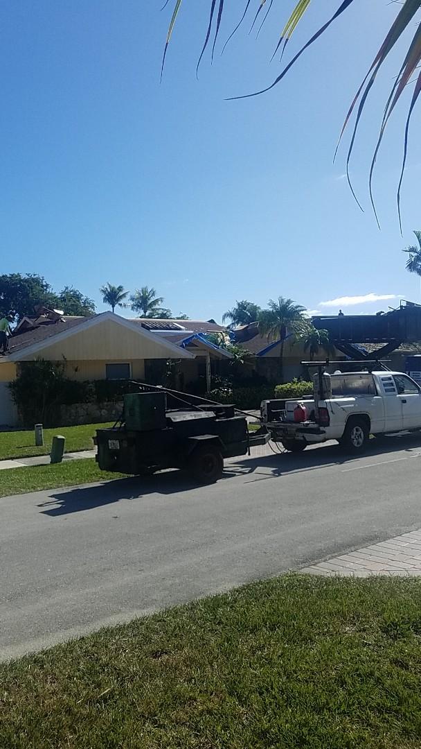 Tamarac, FL - Tile roof tearoff by Earl Johnston Roofing Company
