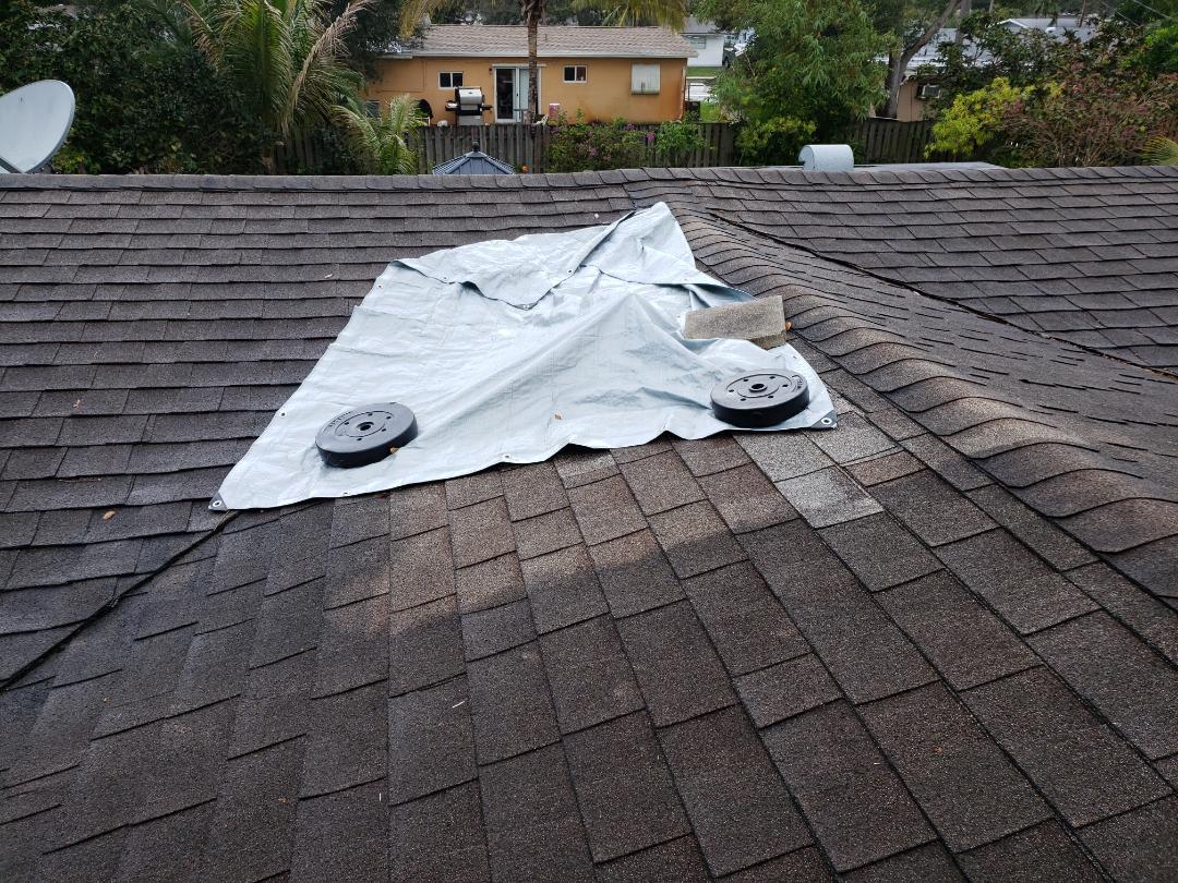 Cooper City, FL - Shingle roof leak repair estimate in Cooper City Florida by Mike Wilde of Earl Johnston Roofing