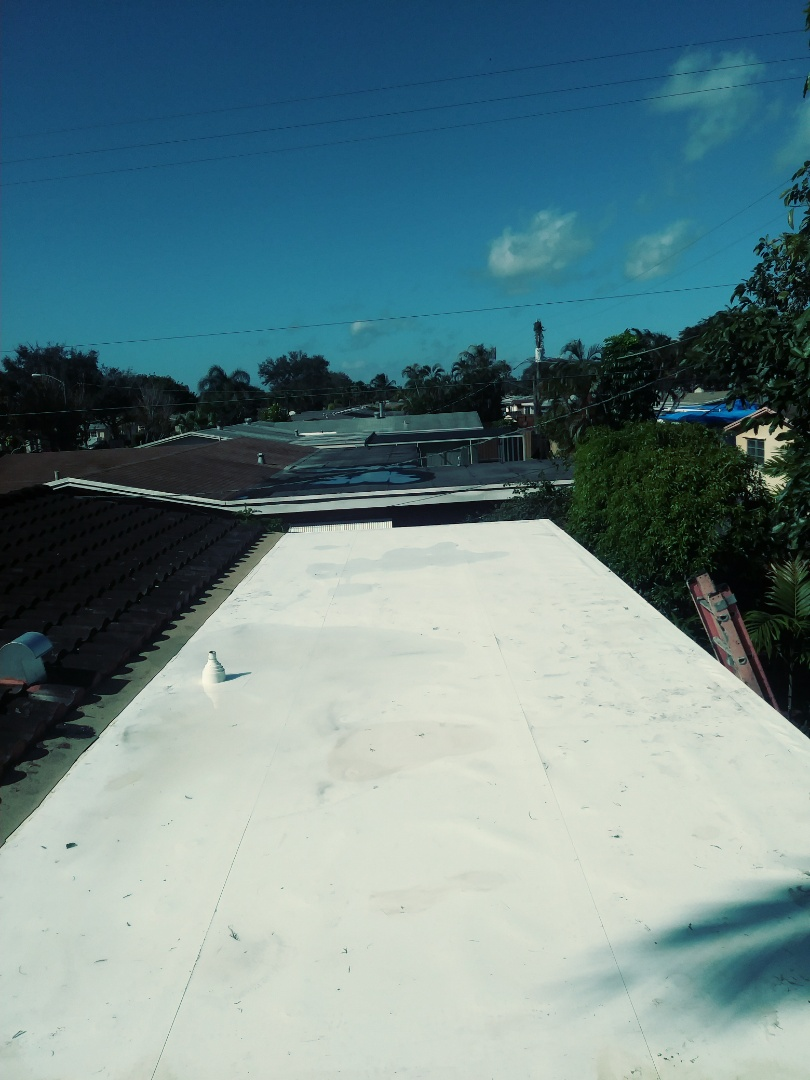 Cooper City, FL - Finished flat tpo roof by earl w Johnston roofing llc