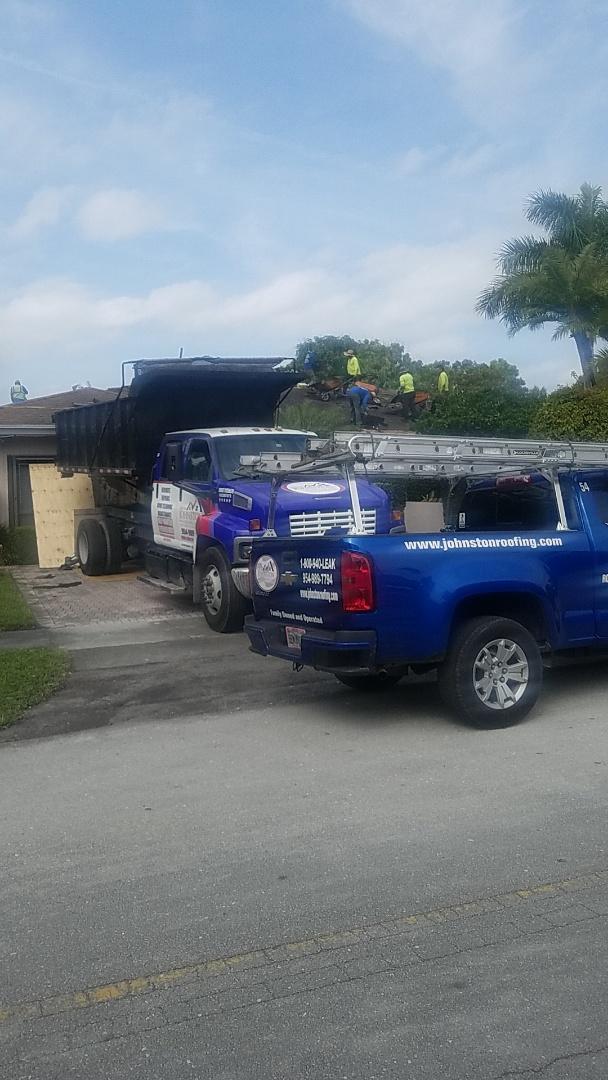 North Miami Beach, FL - Shingle roof tearoff by Earl Johnston Roofing Company
