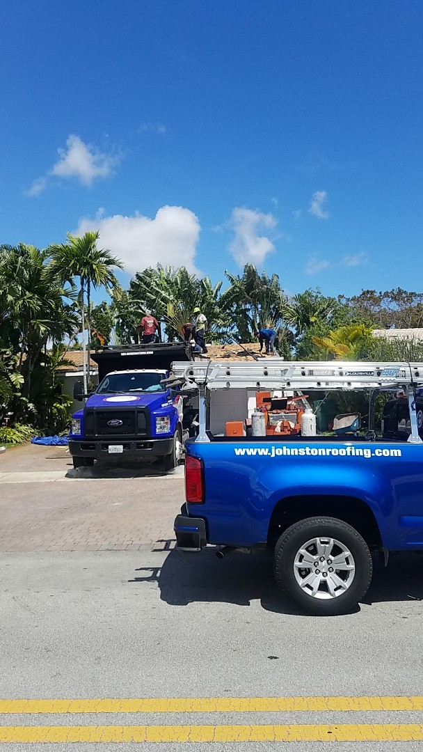North Miami Beach, FL - Tile roof replacement tearoff by Earl Johnston Roofing Company