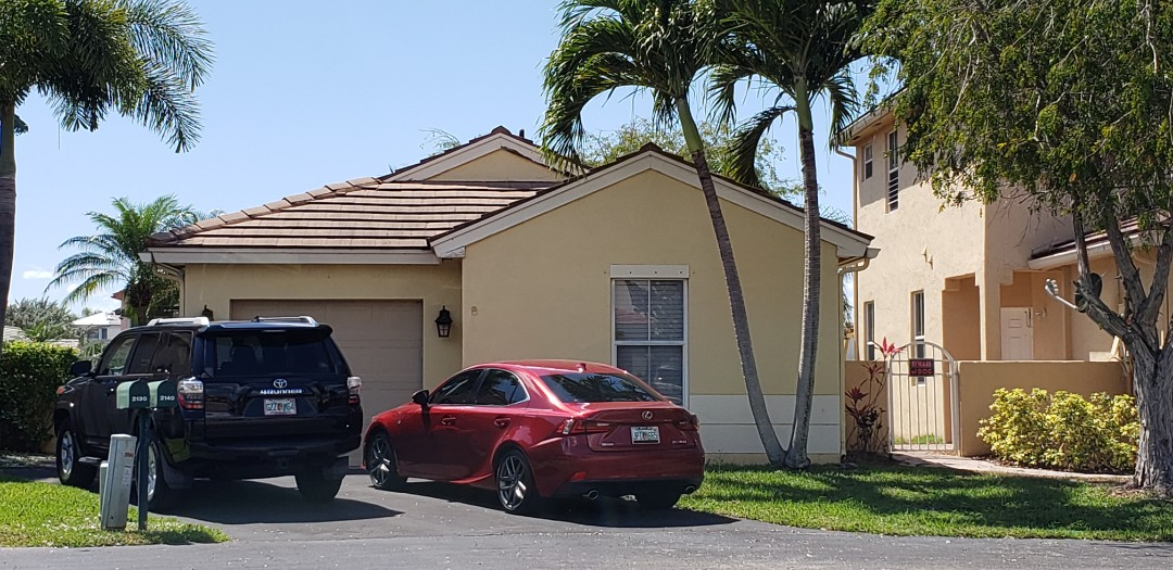 Pembroke Pines, FL - Boral Tile reroof is signed in Pembroke Pines Florida by Mike Wilde of Earl Johnston Roofing