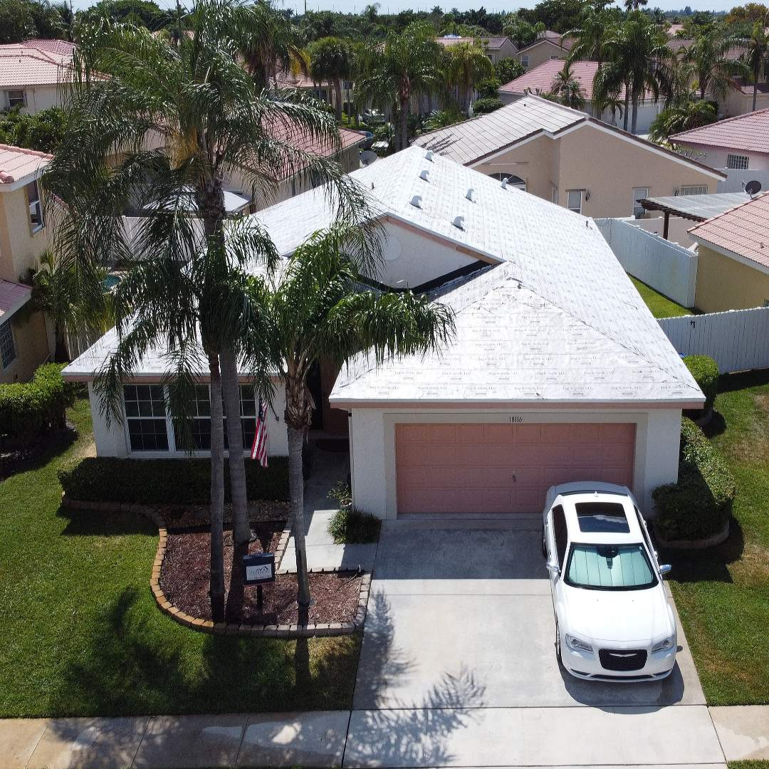 Pembroke Pines, FL - Tag N Stick Tile re-roof is starting today in Pembroke Pines Florida by Mike Wilde of Earl Johnston Roofing
