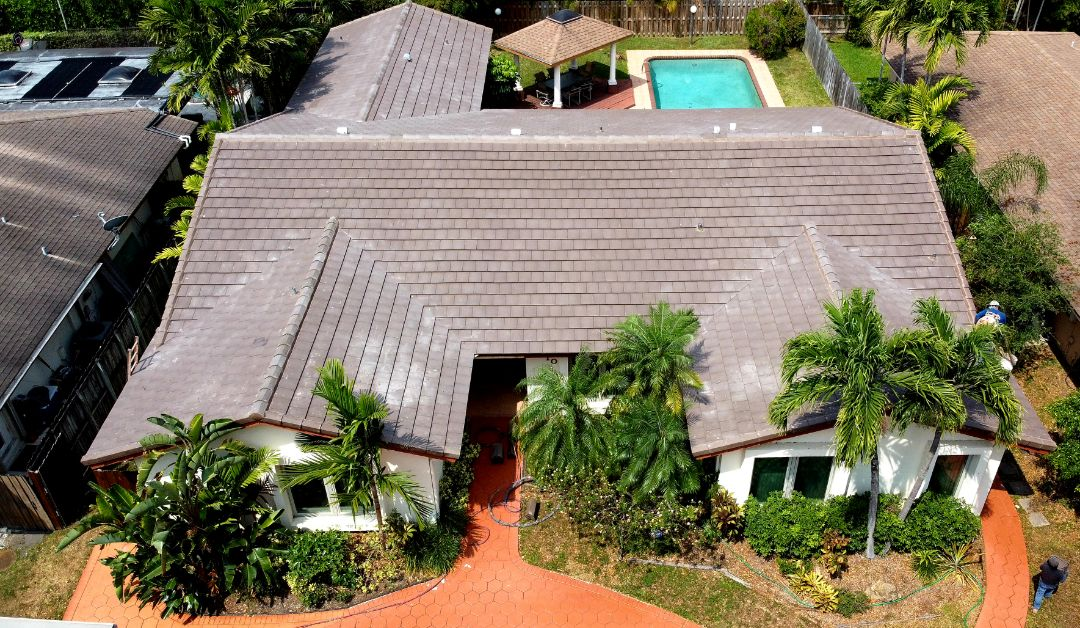 Miami, FL - Boral Saxony 900 Flat Tile Reroof is finished in Miami,FL by Mike Wilde of Earl Johnston Roofing