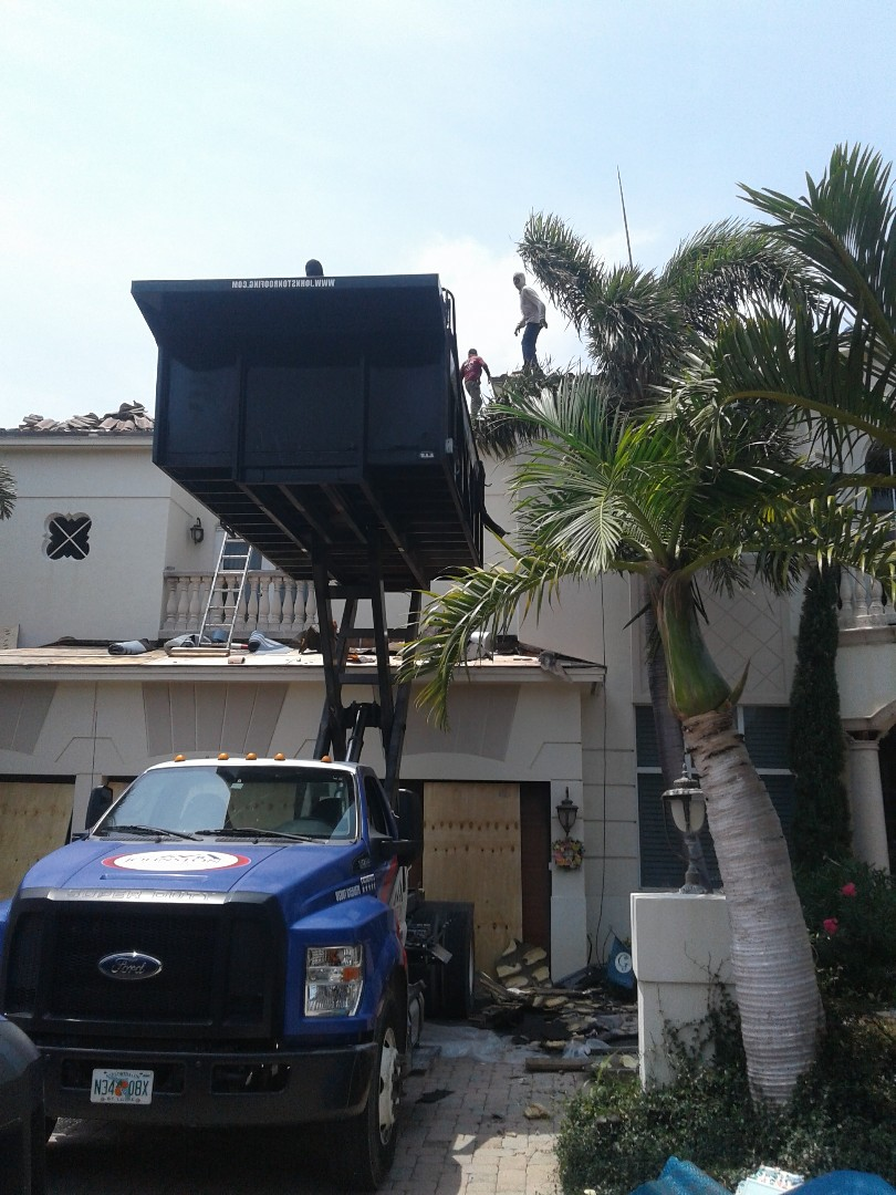 Lighthouse Point, FL - Starting a 43sq tile reroof in Lighthouse Point, by Earl w Johnston roofing.