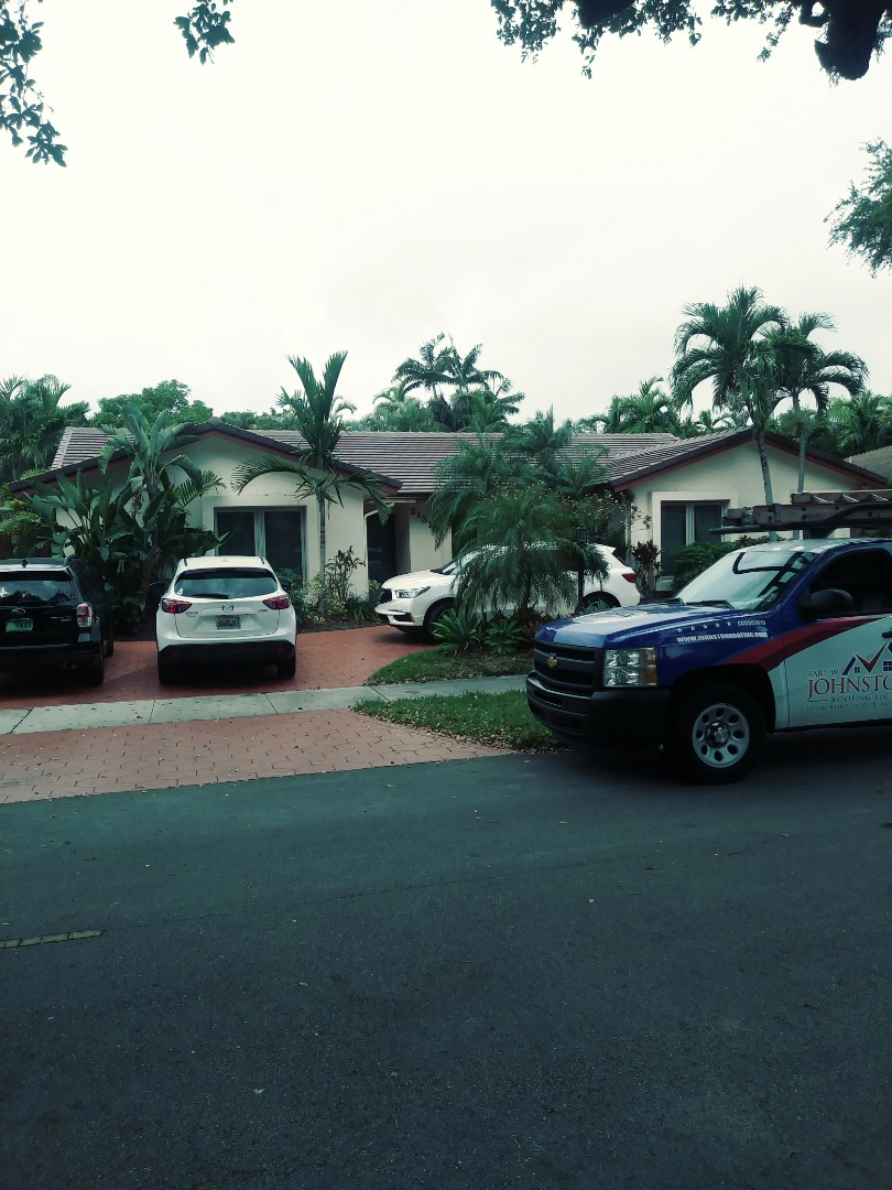 Miami, FL - Finished boral Saxony900 smooth concrete roof tile espresso blend color by earl w Johnston roofing llc