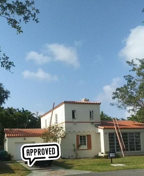 Miami, FL - Finished a beautiful Clay roof in historical Miami.