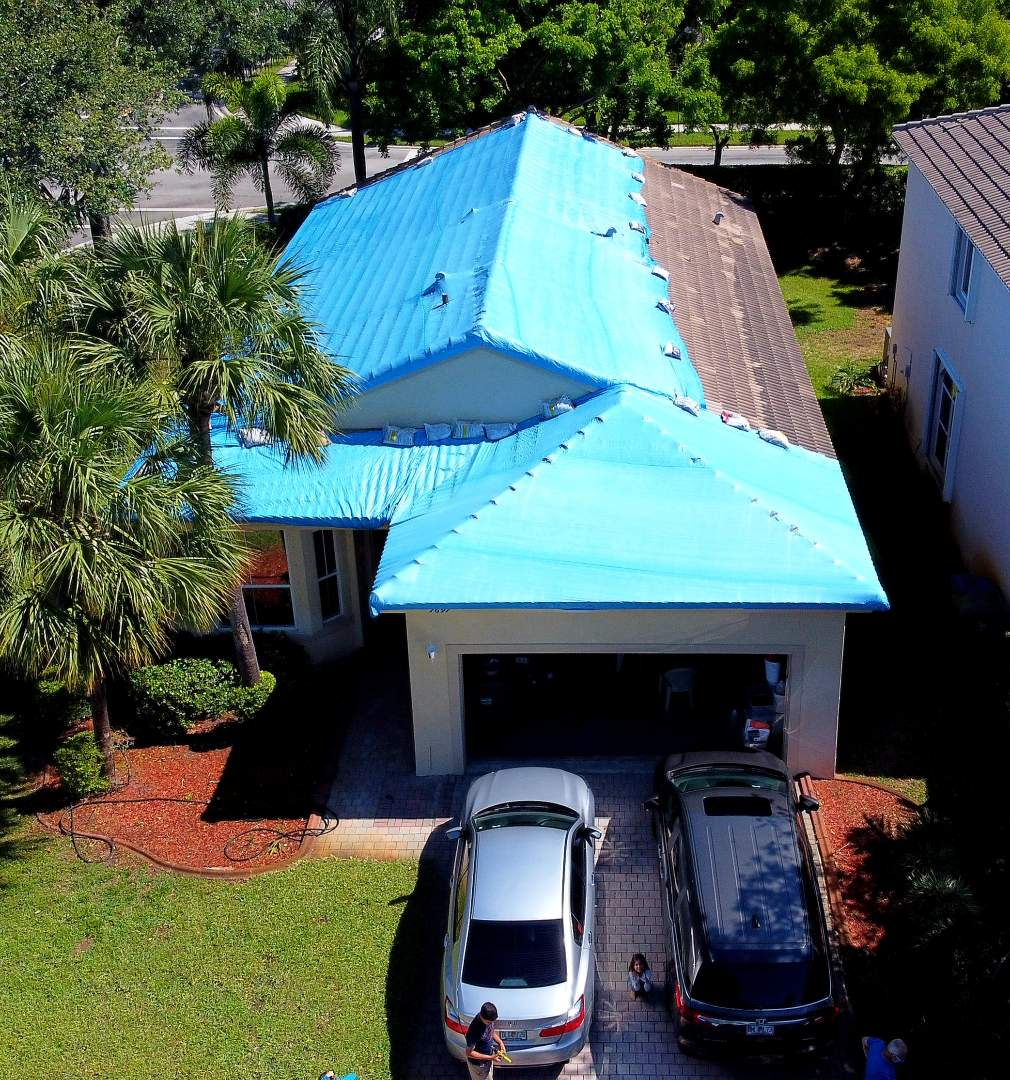 Pembroke Pines, FL - Eagle Malibu tile re-roof is signed in Pembroke Pines Florida by Mike Wilde of Earl Johnston Roofing