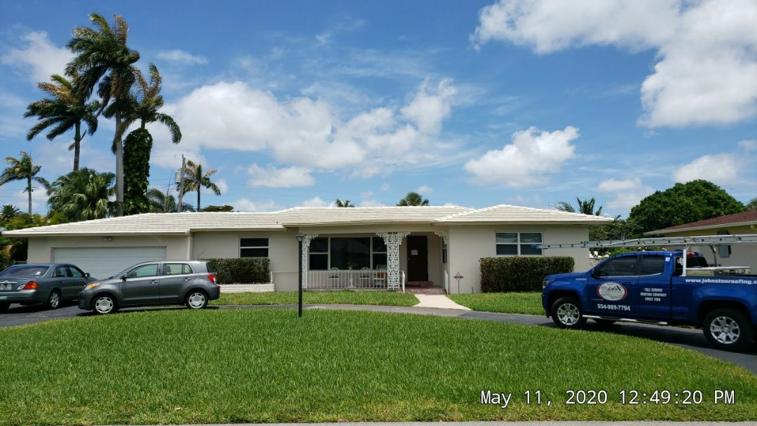 Hollywood, FL - Flat reroof estimate in Hollywood,FL by Mike Wilde of Earl Johnston Roofing