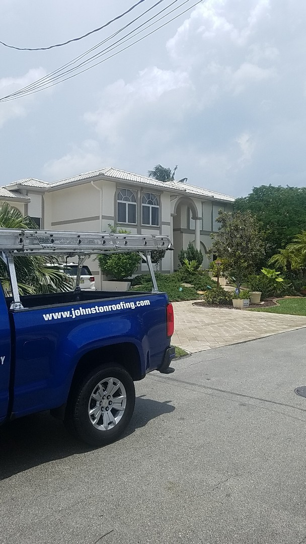 Fort Lauderdale, FL - Tile roof repair estimate by Aj from Earl Johnston Roofing Company