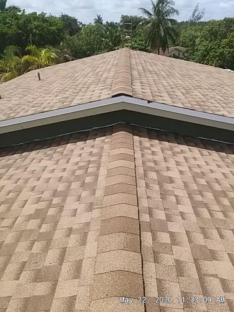 Sunrise, FL - Finished this GAF Timberline Shakewood roof with the GAF Golden Pledge Warranty
