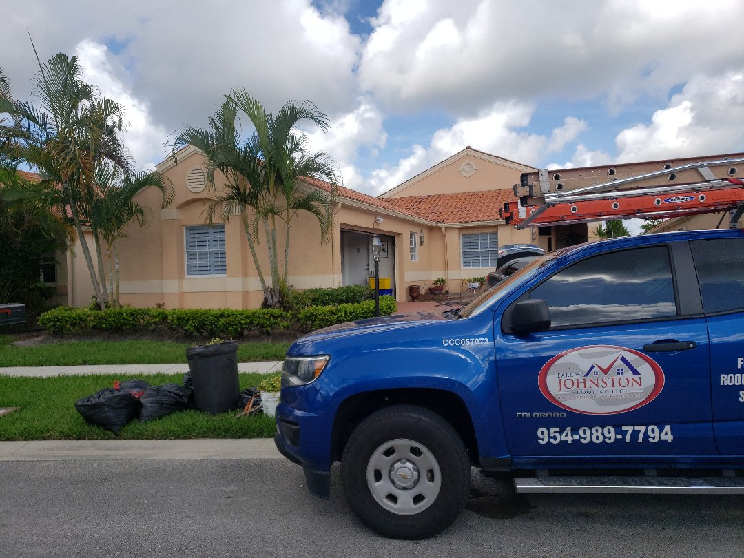 Boca Raton, FL - Clay Tile ReRoof Estimate Earl Johnston Roofing Eric Suarez954-989-7794