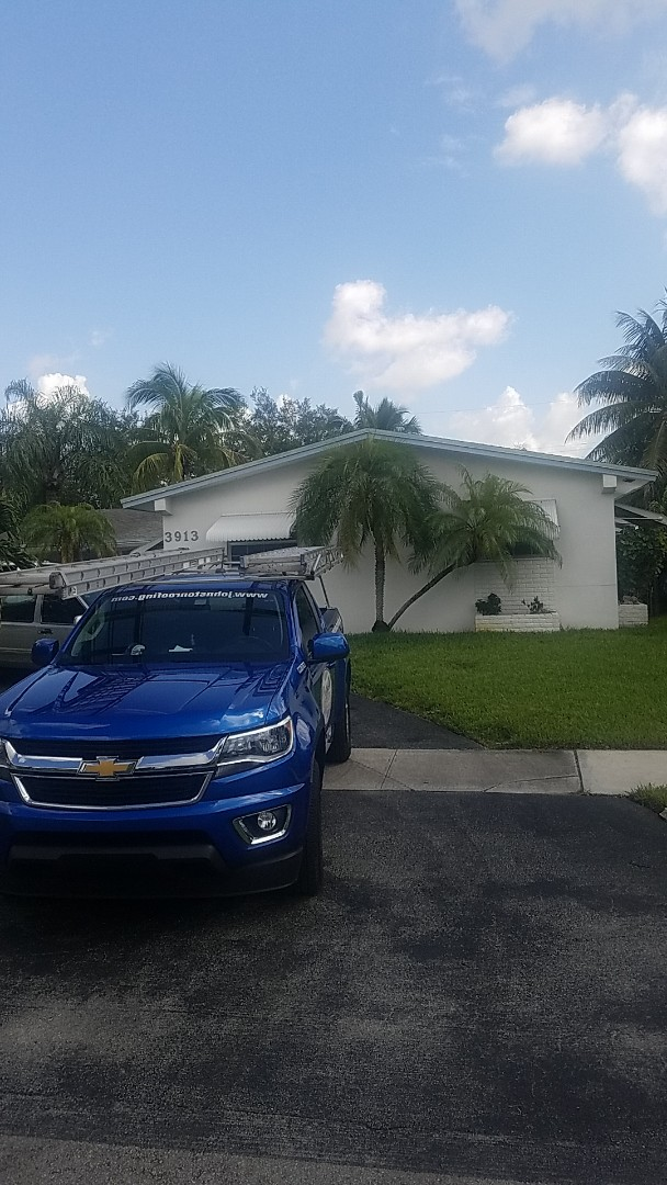 Shingle roof leak repair estimate by Aj from Earl Johnston Roofing Company