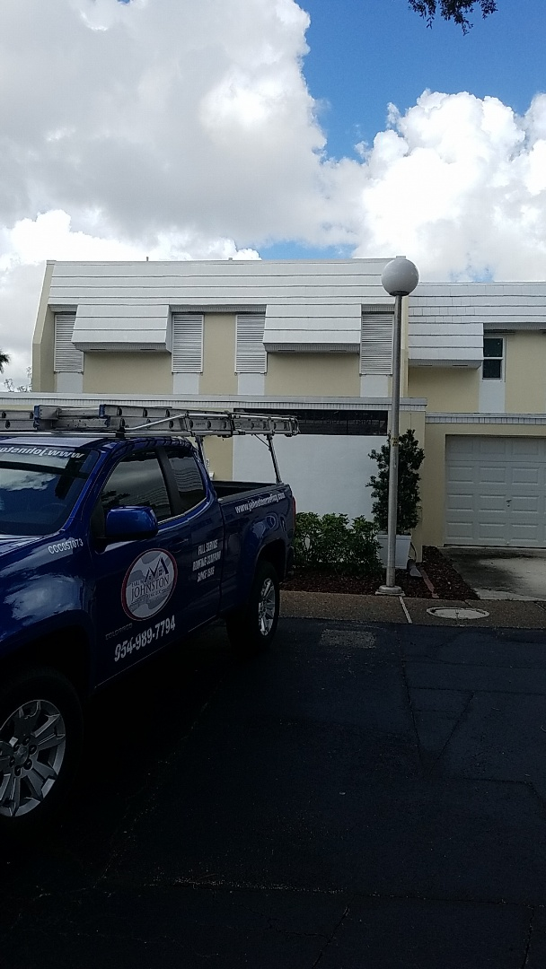Hialeah, FL - Flat roof leak repair estimate by Aj from Earl Johnston Roofing Company