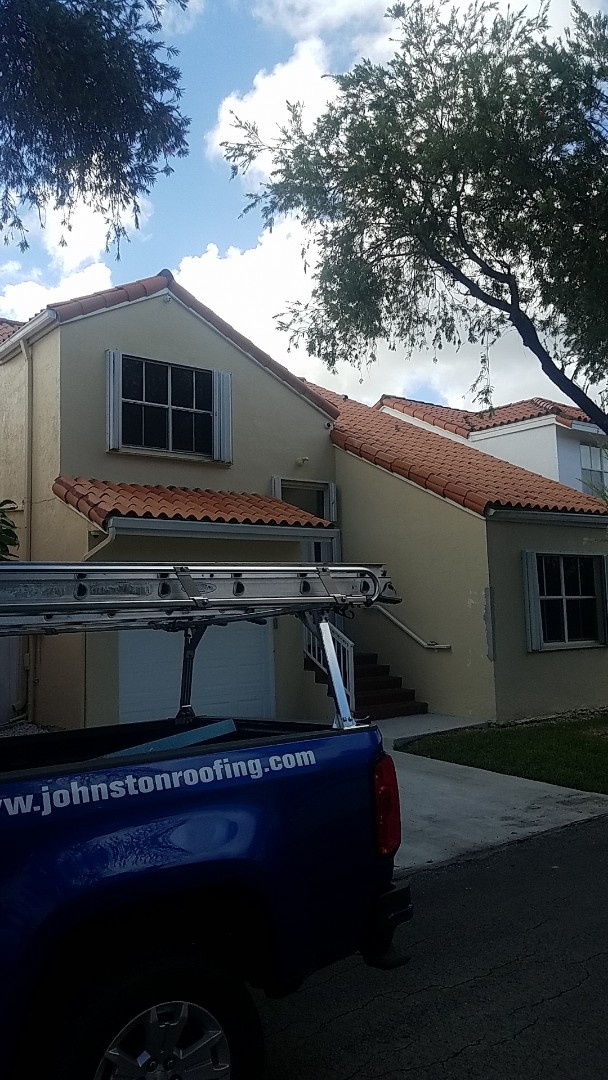 Hialeah, FL - Verea clay tiles reroof proposal by Aj from Earl Johnston Roofing Company