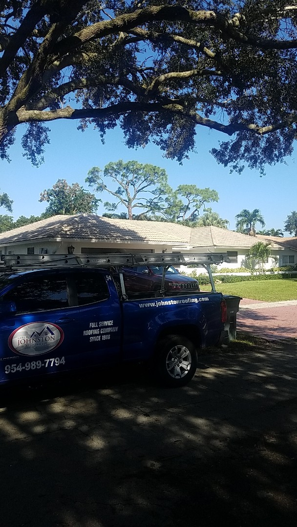 Boca Raton, FL - Eagle Malibu tiles reroof estimate by Aj from Earl Johnston Roofing Company