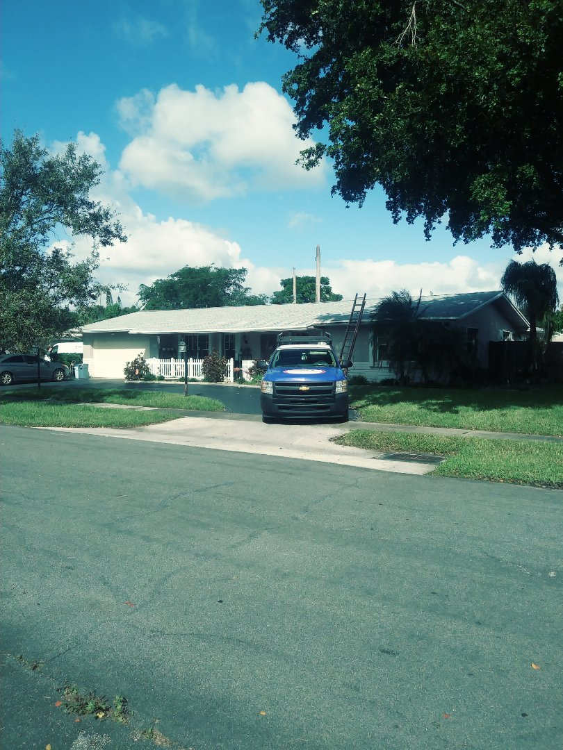 Plantation, FL - Finished gaf timberline shingle and flat roof by earl w Johnston roofing