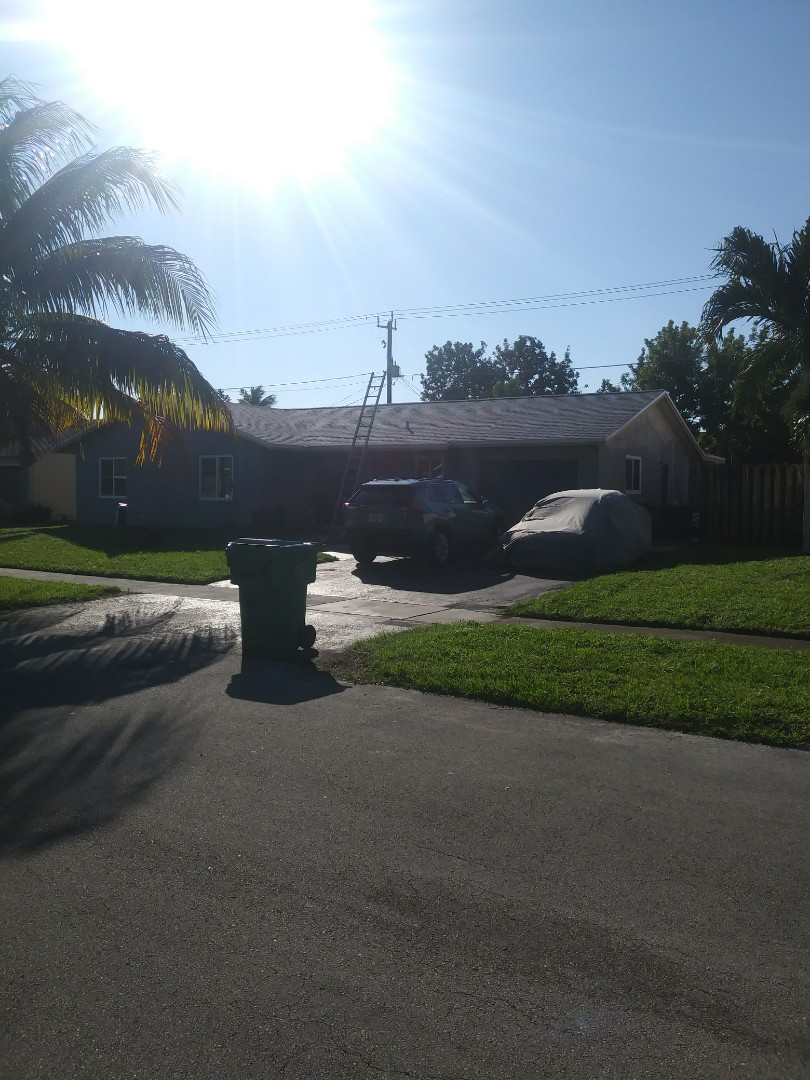 Lauderhill, FL - Finished gaf timberline shingle and flat roof by earl w Johnston roofing