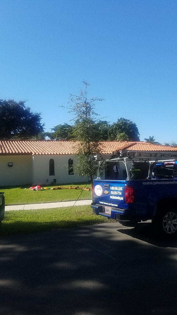 Hialeah, FL - Eagle capistrano tiles roof replacement estimate by Aj from Earl Johnston Roofing Company