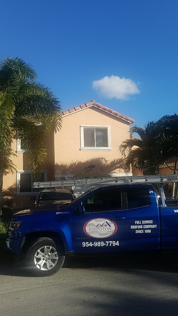 Dania Beach, FL - Boral Estate tiles reroof estimate by Aj from Earl Johnston Roofing Company