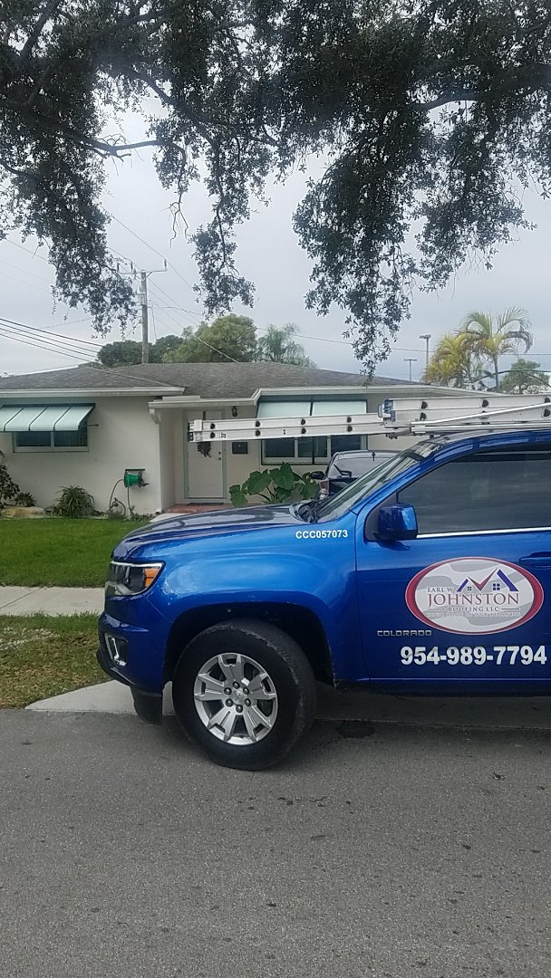 Dania Beach, FL - Shingle roof leak repair estimate by Aj from Earl Johnston Roofing Company