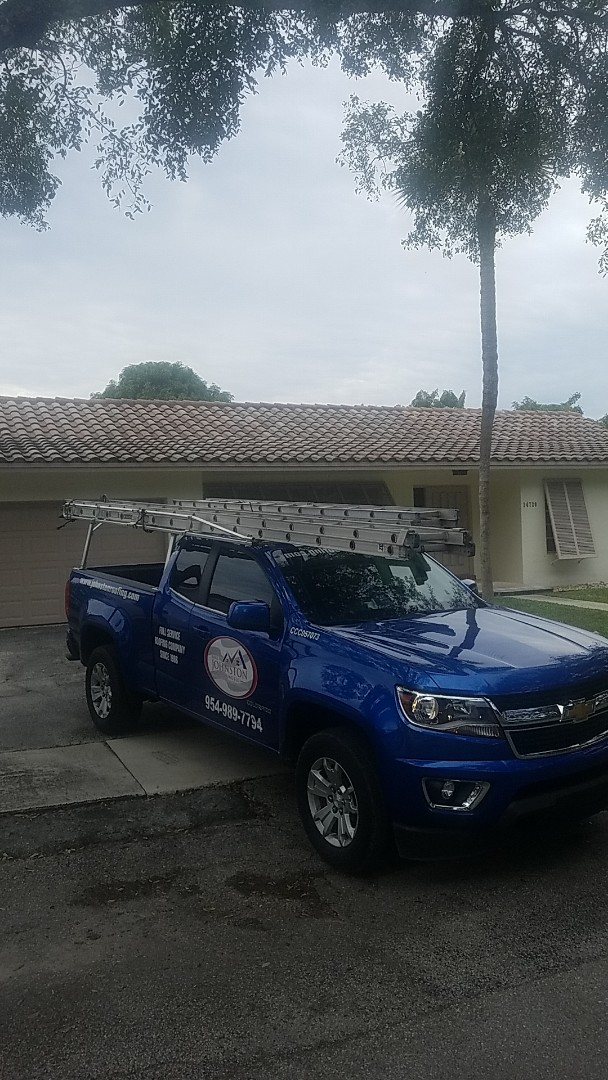 Miami Lakes, FL - Tile roof replacement contract signing by Aj from Earl Johnston Roofing Company