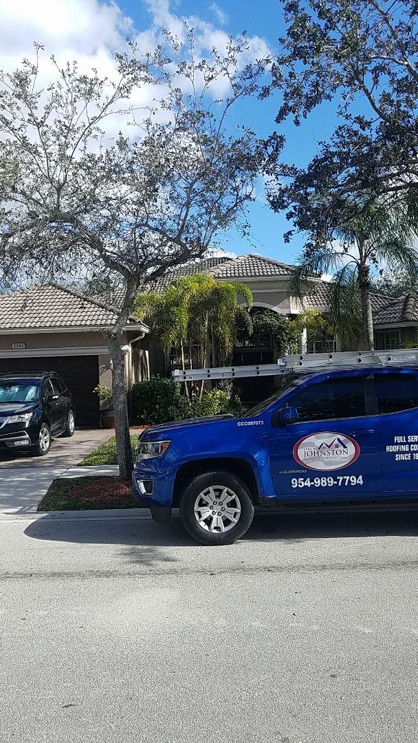 Pembroke Pines, FL - Tile roof leak repair estimate by Aj from Earl Johnston Roofing Company