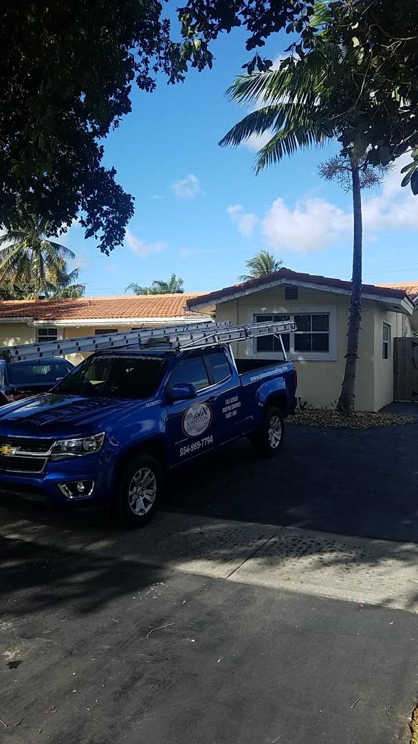 Fort Lauderdale, FL - Eagle Malibu tiles reroof estimate by Aj from Earl Johnston Roofing Company