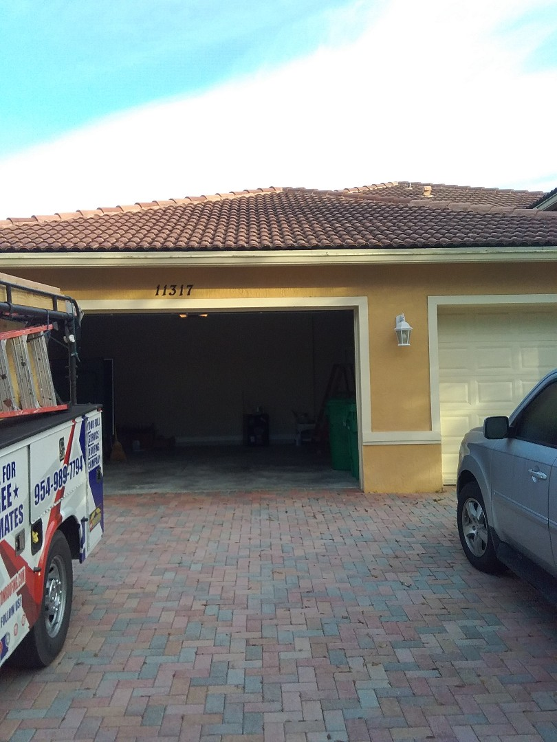 Cooper City, FL - Repair tiles roof by Alexis and Oliver from early w Johnson roofing