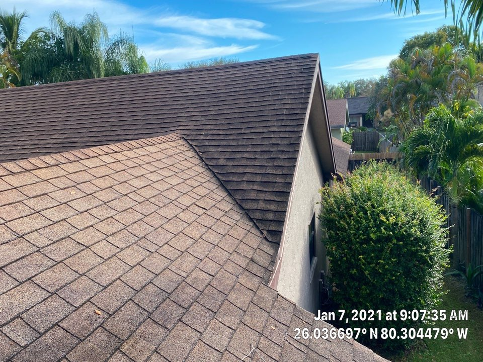 Hollywood, FL - Gaf Timberline HDZ shingle and flat reroof estimate in Cooper City , FL by Mike Wilde and Earl Johnston Roofing