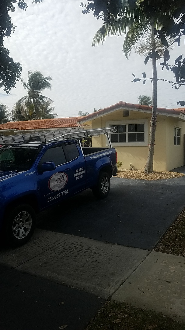 Fort Lauderdale, FL - Eagle Bel Air tiles reroof estimate by Aj from Earl Johnston Roofing Company