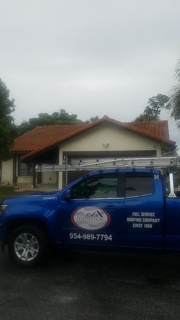 Coral Springs, FL - Tile roof leak repair estimate by Aj from Earl Johnston Roofing Company