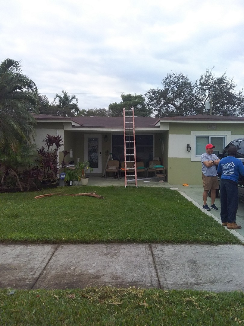 Pembroke Pines, FL - Repair shingle roof by Alexis and Oliver from early w Johnson roofing
