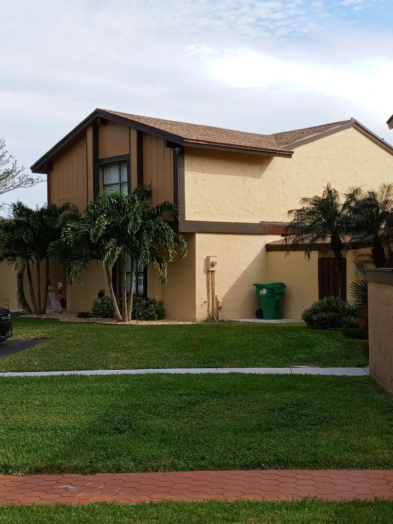 Miami, FL - Finished gaf timberline shingle roof shakewood color by earl w Johnston roofing llc