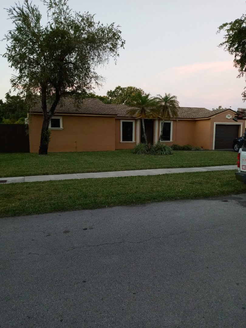 Hialeah, FL - Finished gaf timberline shingle roof by earl w Johnston roofing