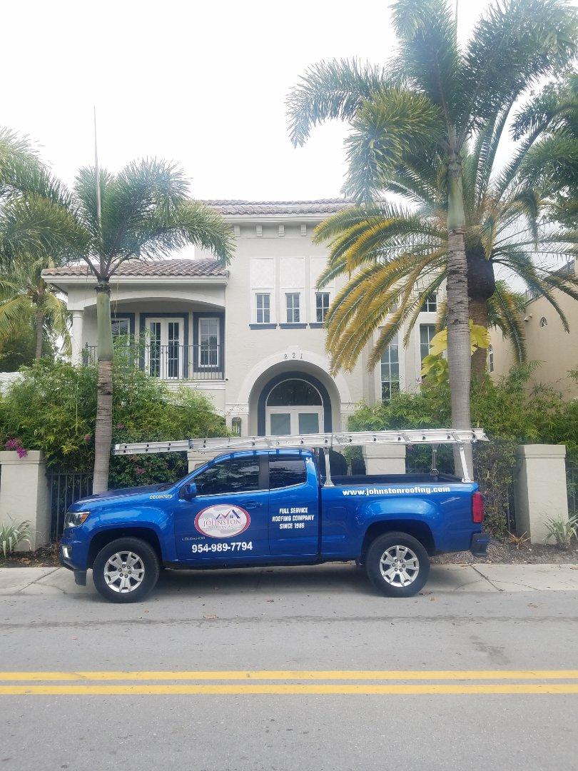 Fort Lauderdale, FL - Waterproofing estimate by Aj from Earl Johnston Roofing Company