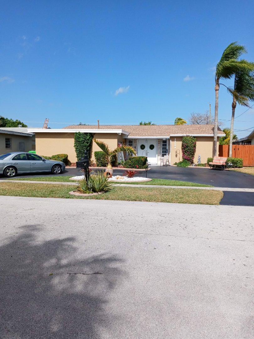 Cooper City, FL - Finished gaf timberline shingle and flat roof by earl w Johnston roofing