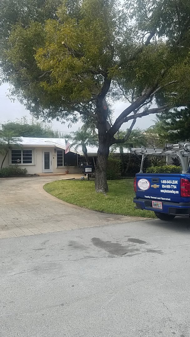 Lighthouse Point, FL - Tile roof replacement with tag and stick by Earl Johnston Roofing Company