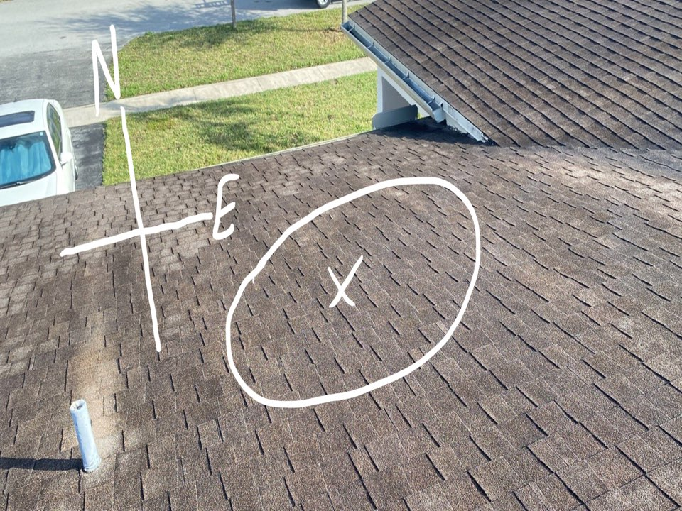 Plantation, FL - Shingle roof leak repair estimate in Plantation,FL by Mike Wilde and Earl Johnston Roofing