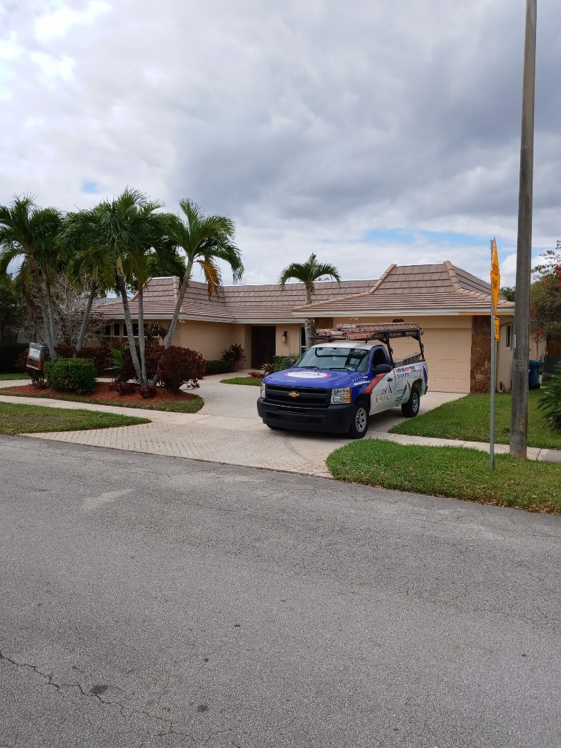 North Miami Beach, FL - Finished boral saxony 900slate concrete roof tile cedar tan. W/black and brown ant. By earl w Johnston roofing