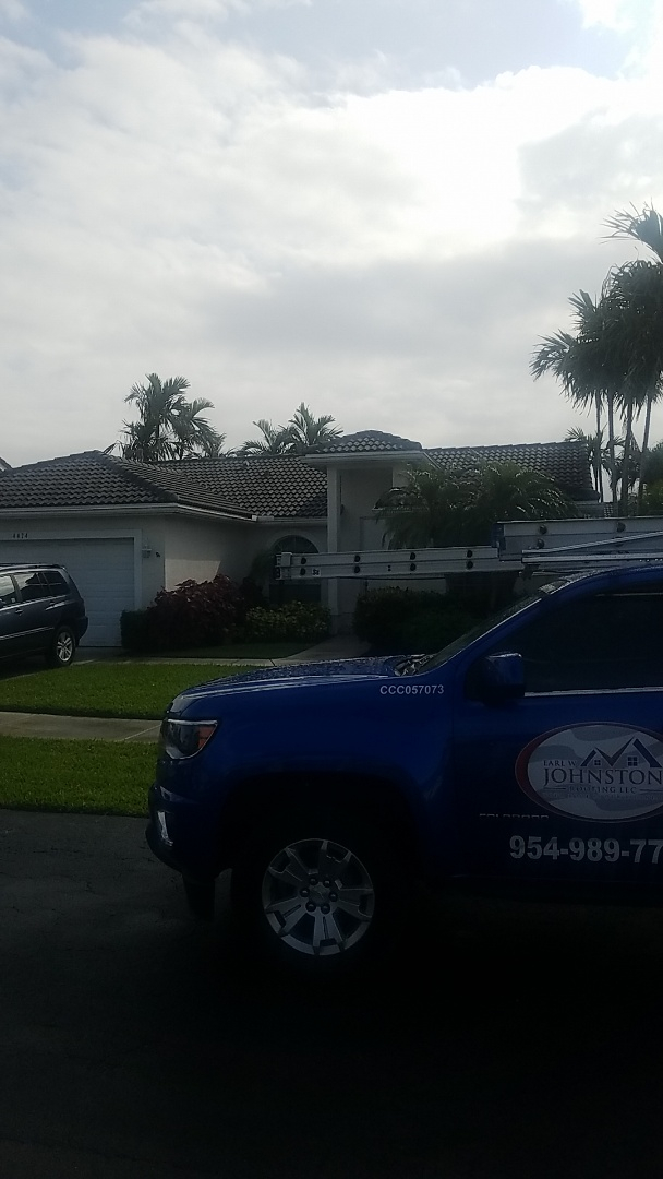 Oakland Park, FL - Tile roof leak and replacement estimate by Aj from Earl Johnston Roofing Company