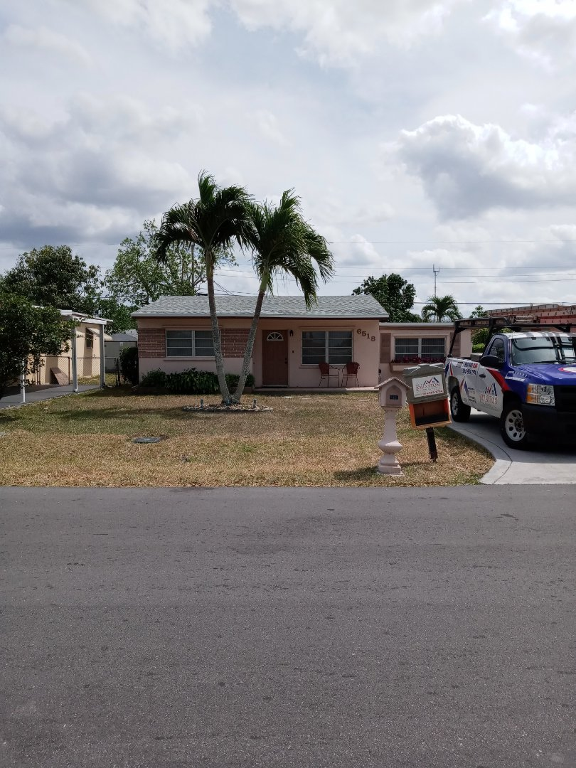 Miramar, FL - Finished gaf timberline shingle and flat roof by earl w Johnston roofing
