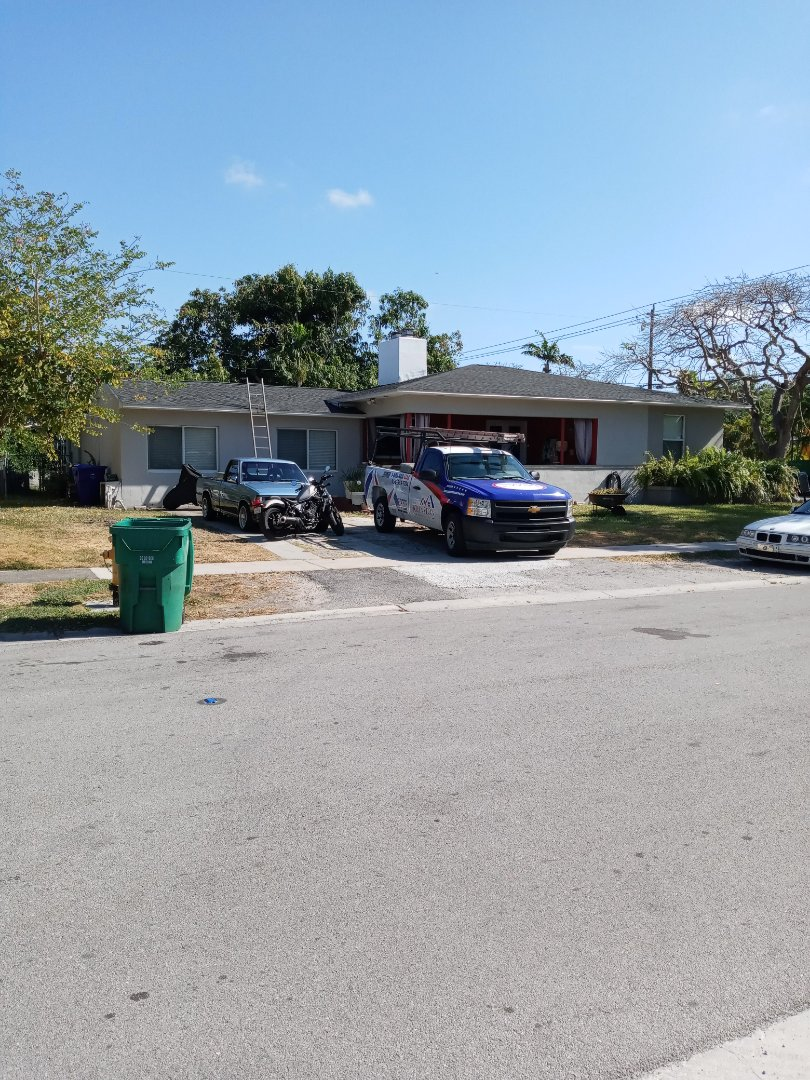 Miami, FL - Finished gaf timberline shingle and flat roof by earl w Johnston roofing llc