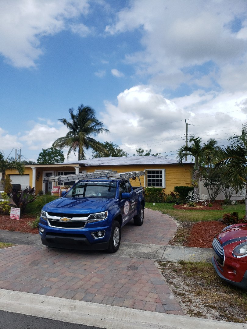 Miramar, FL - Tile roof tear-off phase by AJ from Earl Johnston Roofing Company